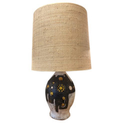 ceramic polychrome table lamp by Georges Pelletier